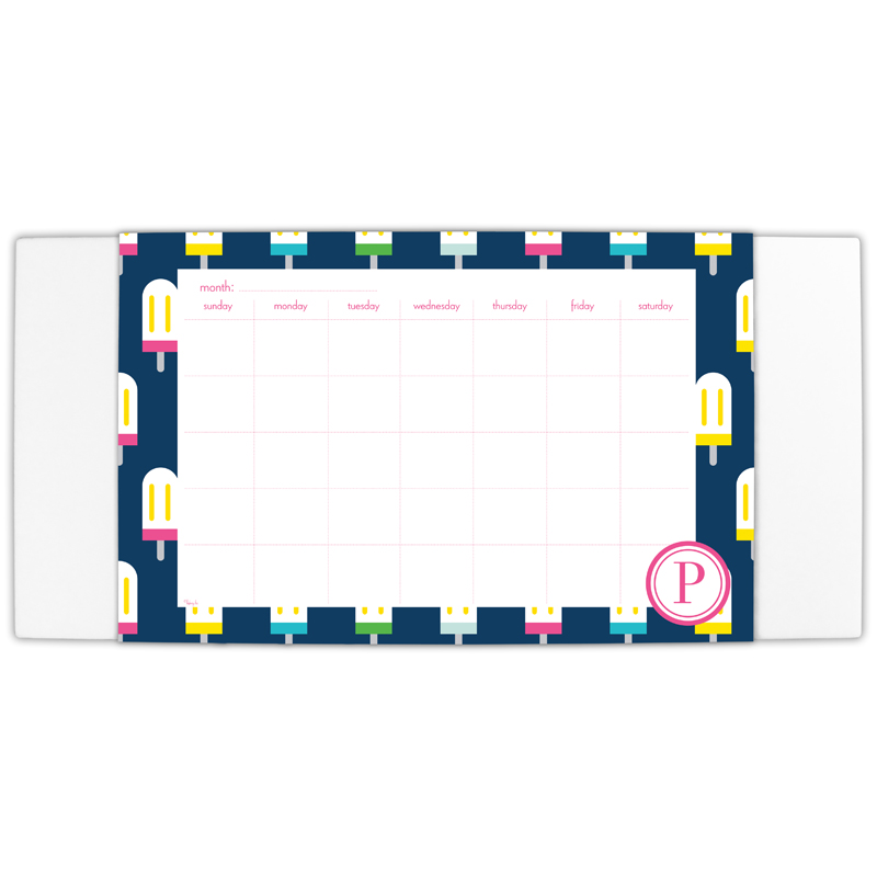 Let's Pop Personalized Blotter & 25 Page Pad