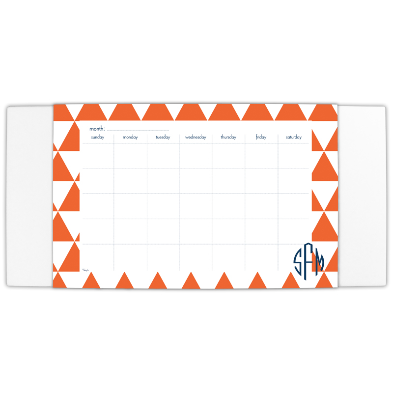 Triangles Personalized Blotter & 25 Page Pad