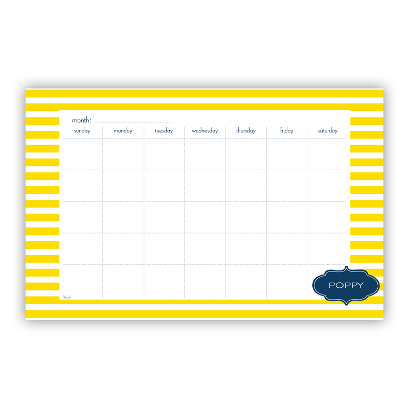 Cabana Personalized Blotter Pad Refill, 25 Page Pad