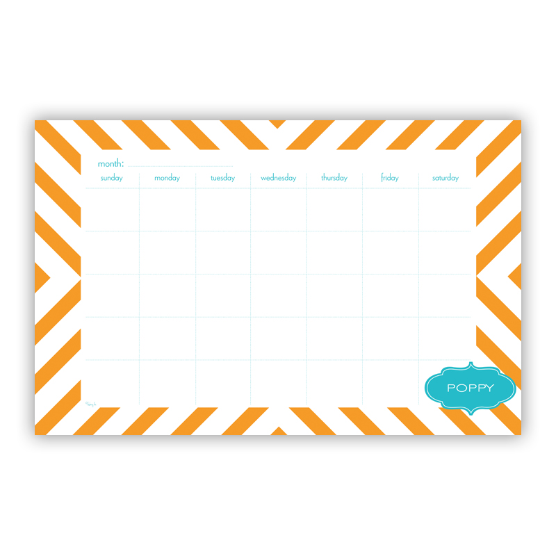 Chevron Personalized Blotter Pad Refill, 25 Page Pad