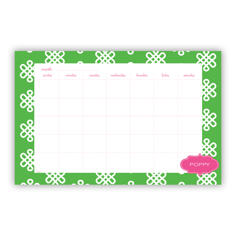 Clementine Personalized Blotter Pad Refill, 25 Page Pad