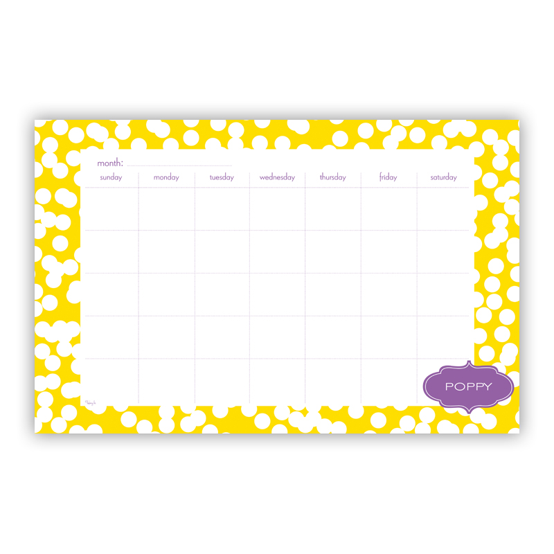 Hole Punch Personalized Blotter Pad Refill, 25 Page Pad