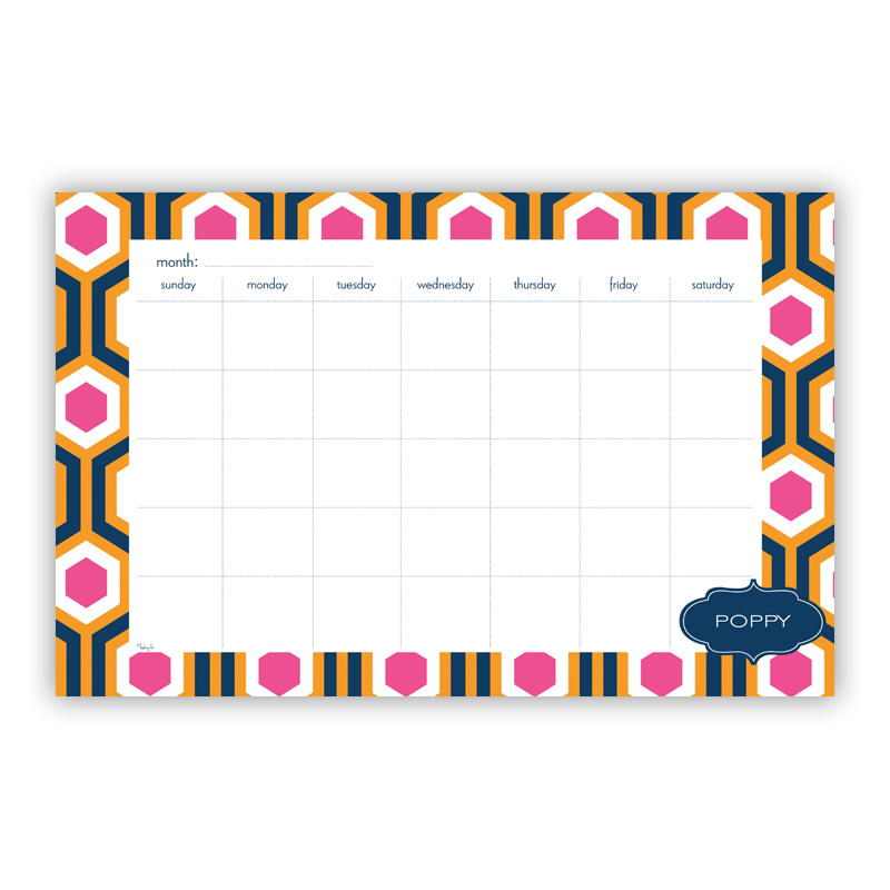 London Calling Personalized Blotter Pad Refill, 25 Page Pad