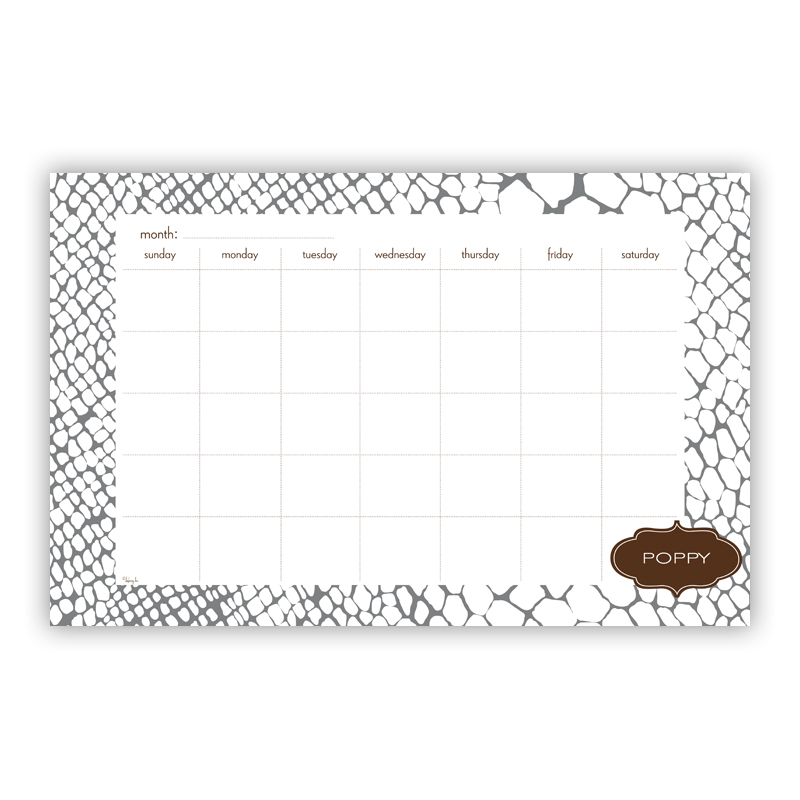 Snakeskin Personalized Blotter Pad Refill, 25 Page Pad