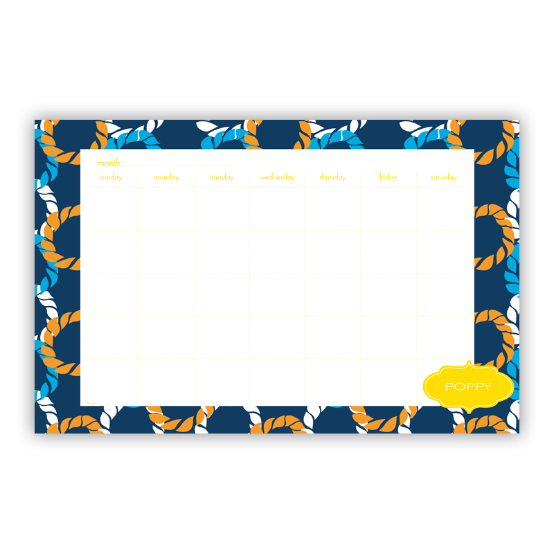 Nautical Knots Personalized Blotter Pad Refill, 25 Page Pad