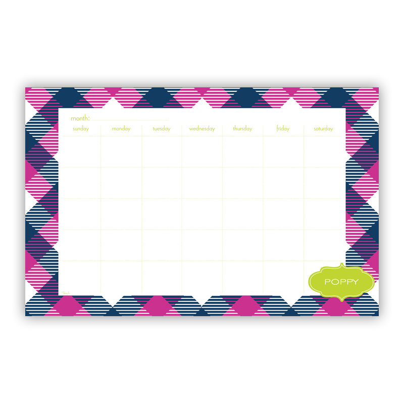 Tartan Personalized Blotter Pad Refill, 25 Page Pad