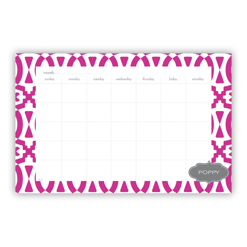 Poppy Personalized Blotter Pad Refill, 25 Page Pad