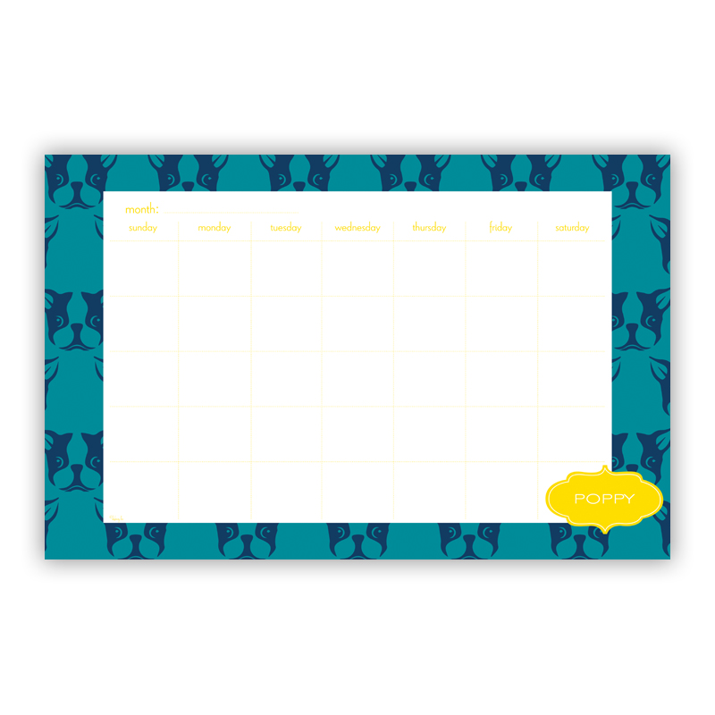Polly Personalized Blotter Pad Refill, 25 Page Pad