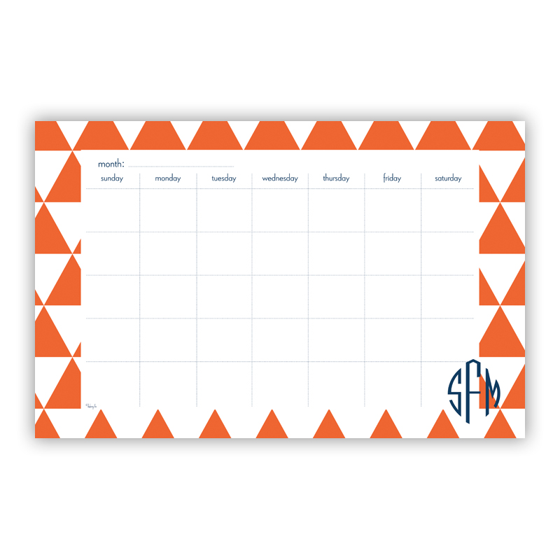 Triangles Personalized Blotter Pad Refill, 25 Page Pad