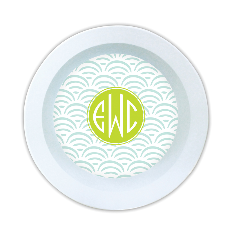 Ella Personalized Melamine Bowl