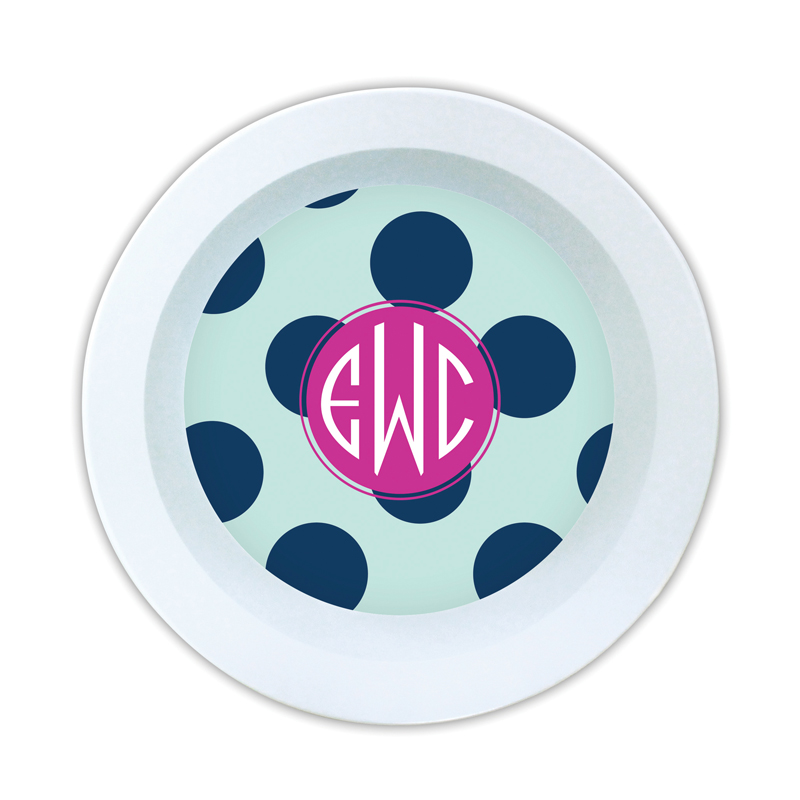 Jane Personalized Melamine Bowl