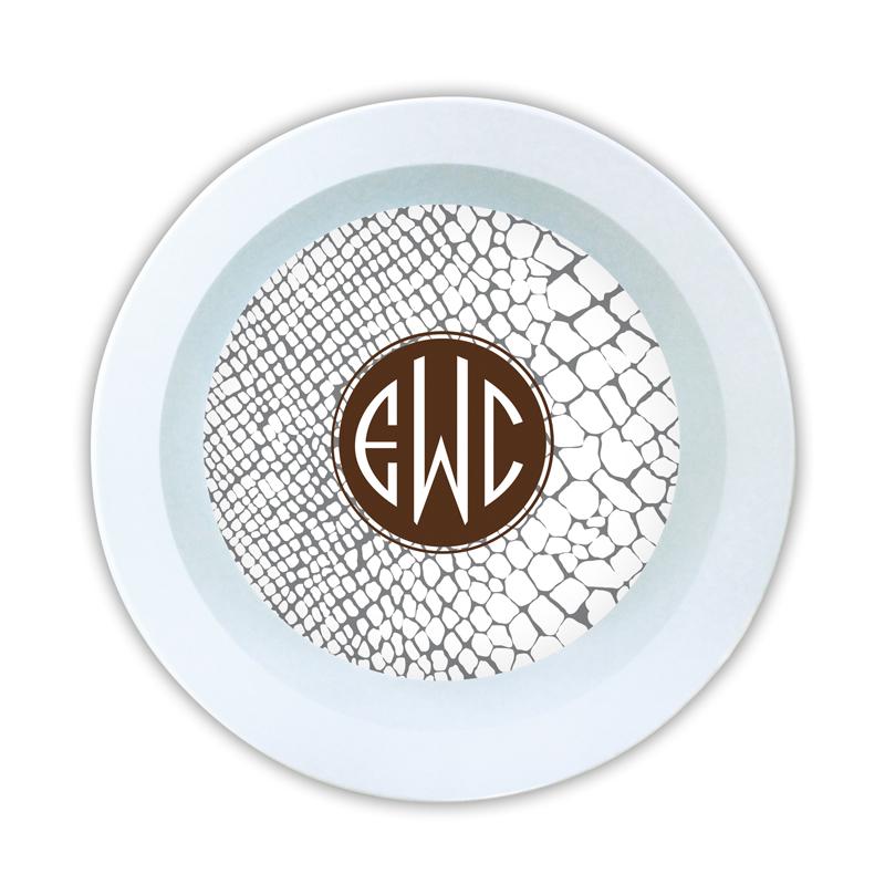 Snakeskin Personalized Melamine Bowl