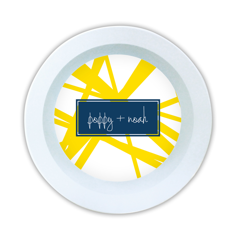 Pick Up Stix Personalized Melamine Bowl