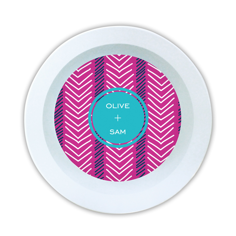 Topstitch Personalized Melamine Bowl