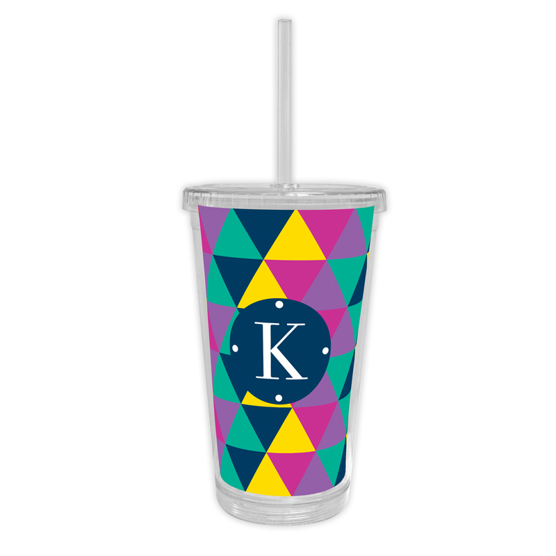 Acute Personalized Cold Tumbler with Straw