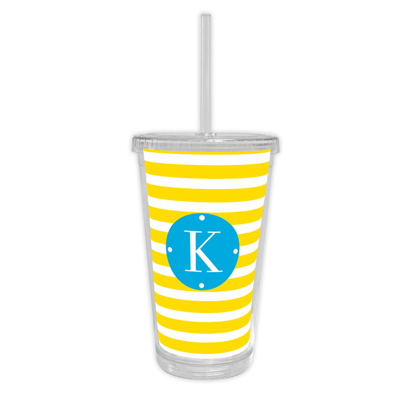 Cabana Personalized Cold Tumbler with Straw