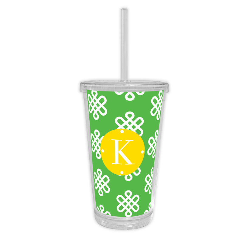 Clementine Personalized Cold Tumbler with Straw