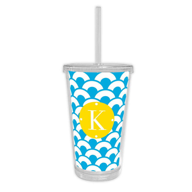 Coins Personalized Cold Tumbler with Straw