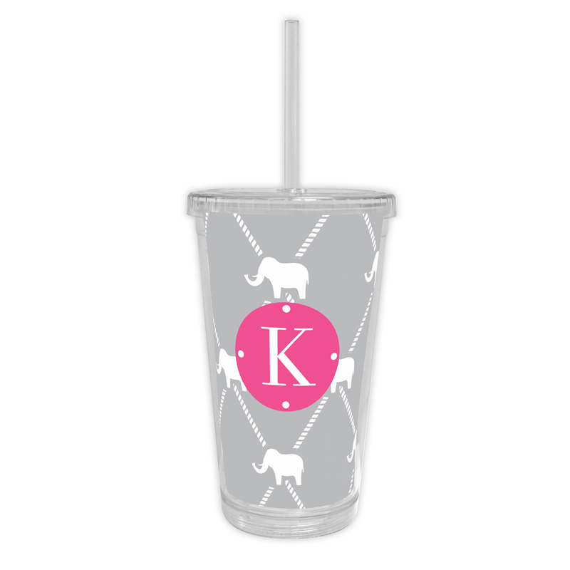 Dumbo Personalized Cold Tumbler with Straw