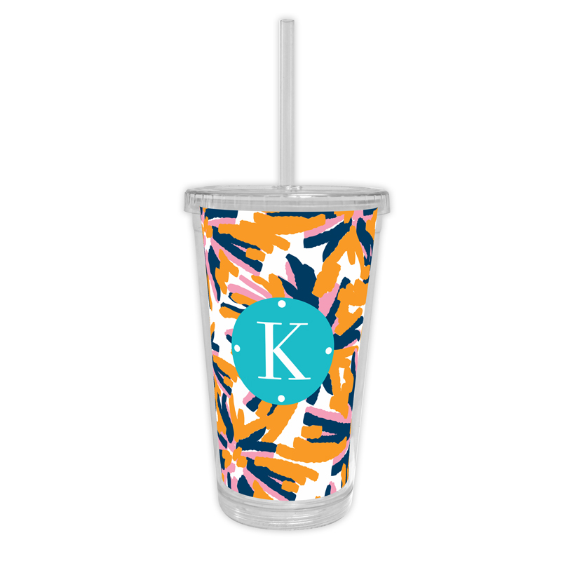 Fireworks Personalized Cold Tumbler with Straw