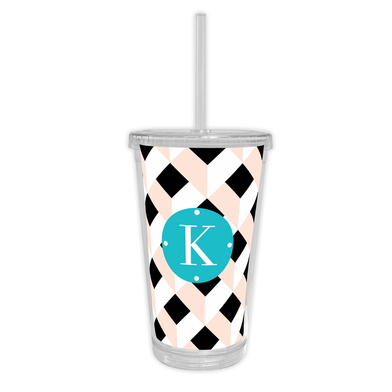 Golden Girl Personalized Cold Tumbler with Straw