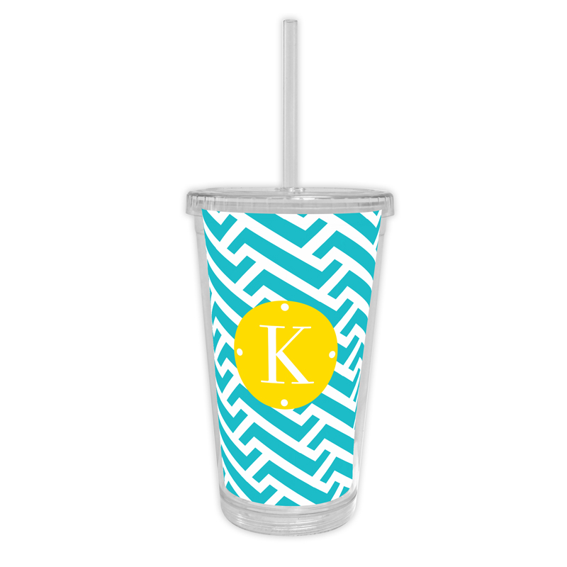 Grasshopper Personalized Cold Tumbler with Straw