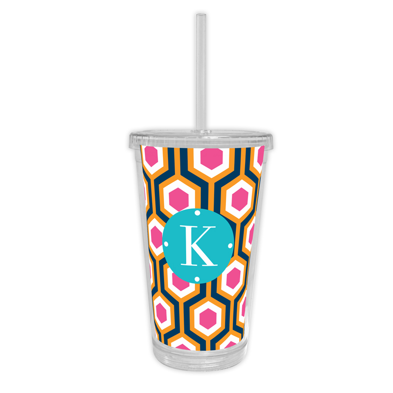 London Calling Personalized Cold Tumbler with Straw