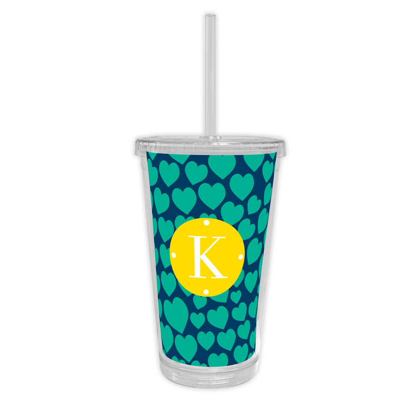 Love Struck Personalized Cold Tumbler with Straw