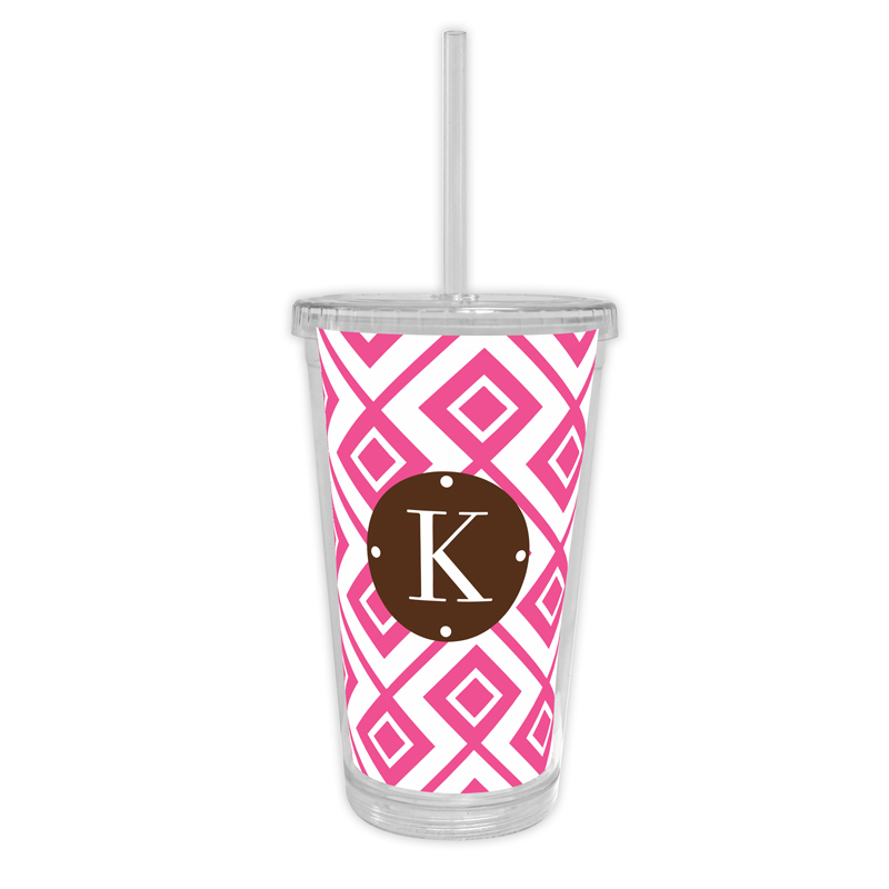 Lucy Personalized Cold Tumbler with Straw