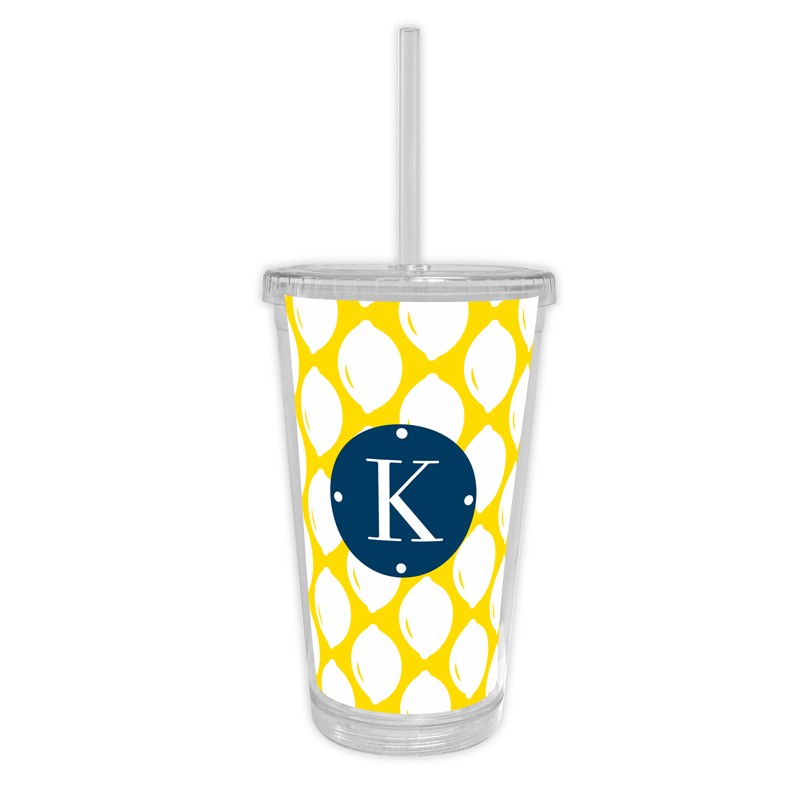 Meyer Personalized Cold Tumbler with Straw