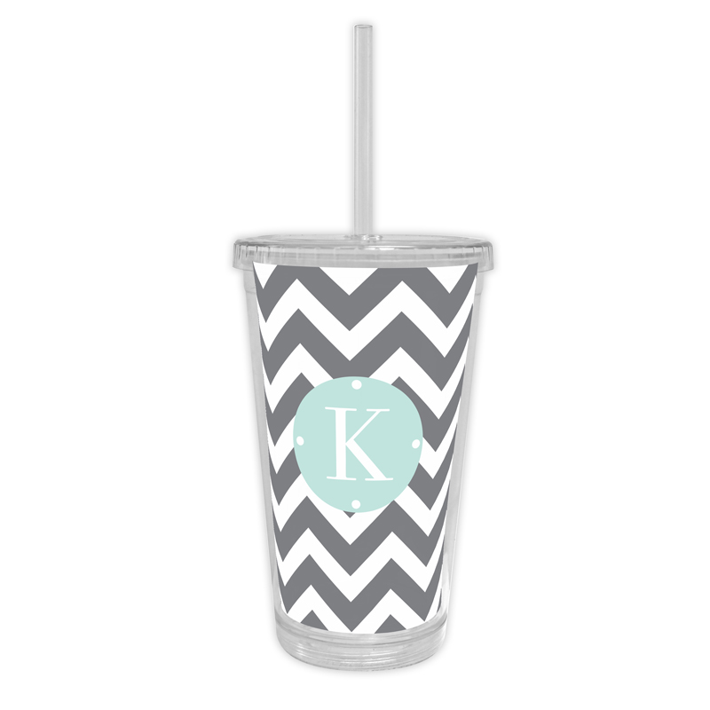 Ollie Personalized Cold Tumbler with Straw