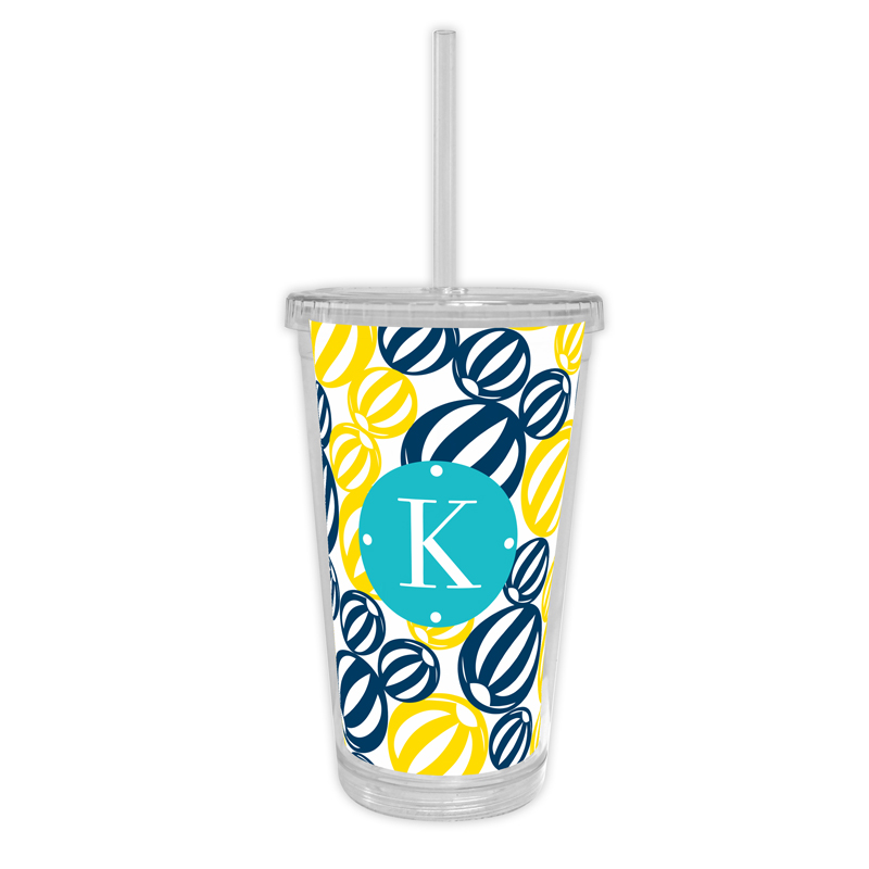 Palm Springs Personalized Cold Tumbler with Straw