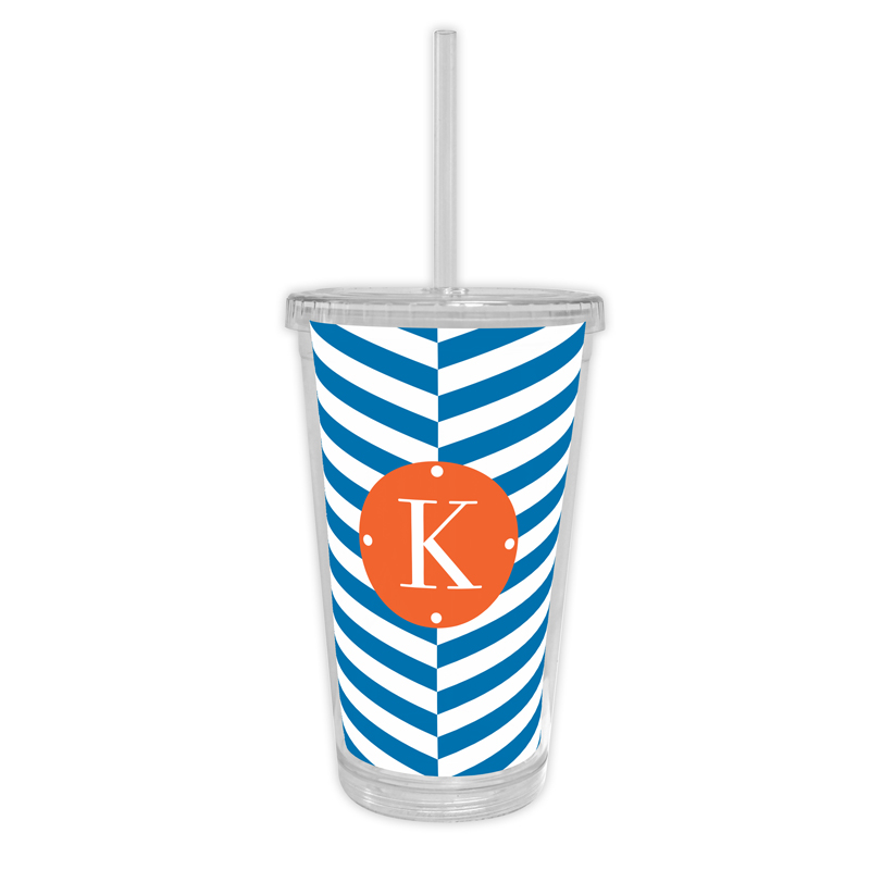 Perspective Personalized Cold Tumbler with Straw