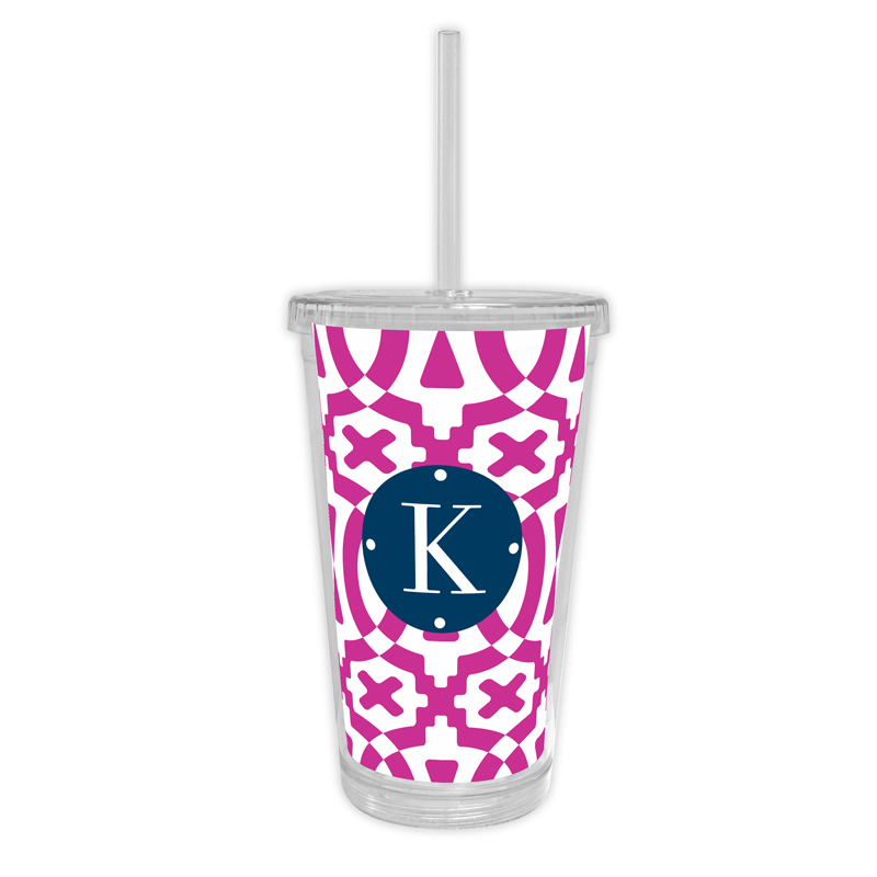 Poppy Personalized Cold Tumbler with Straw