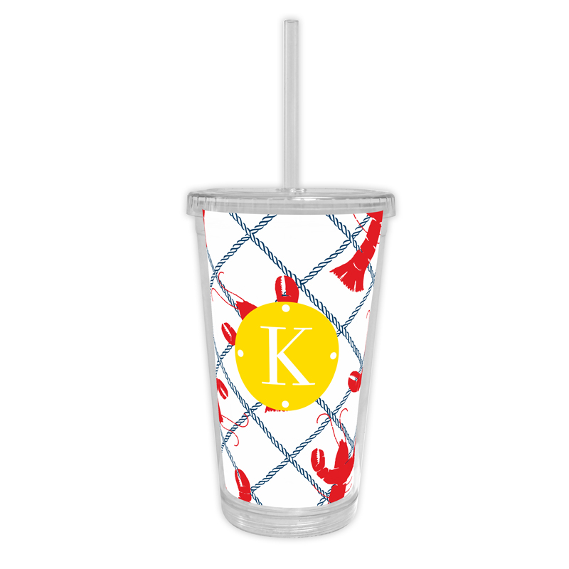 Rock Lobster Personalized Cold Tumbler with Straw