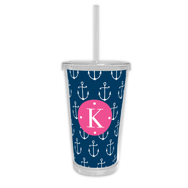 Salty Personalized Cold Tumbler with Straw