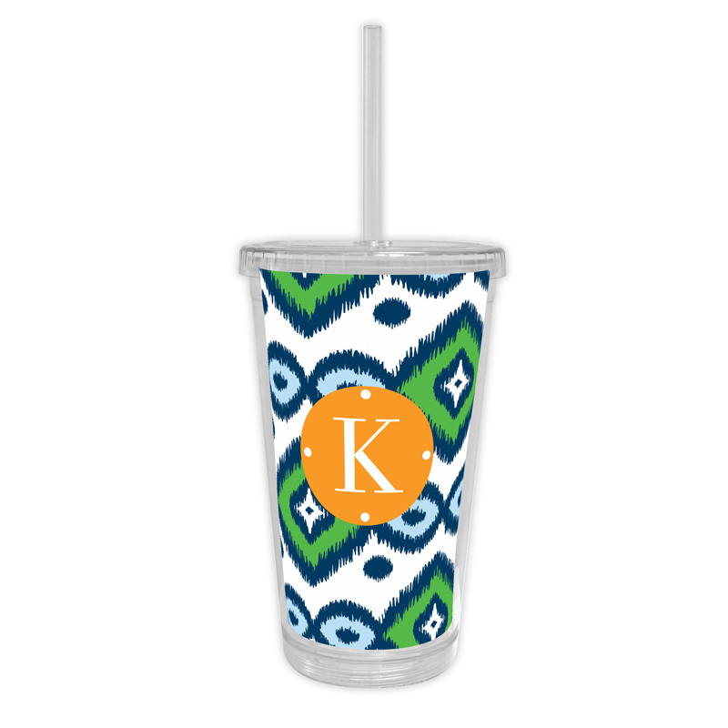 Sunset Beach Personalized Cold Tumbler with Straw