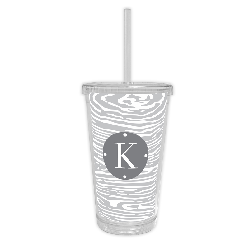 Varnish Personalized Cold Tumbler with Straw