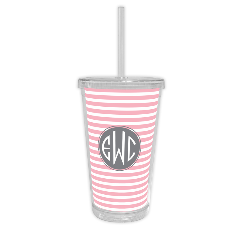 Cabana 2 Personalized Cold Tumbler with Straw