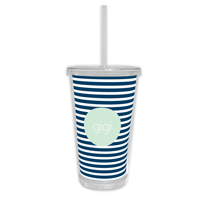Cabana 3 Personalized Cold Tumbler with Straw