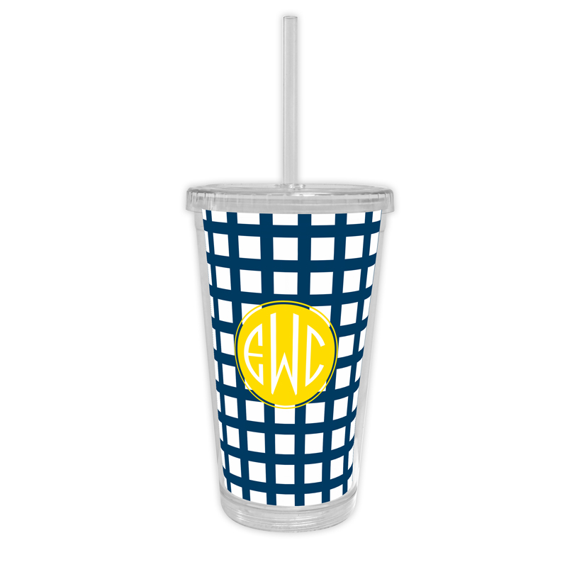 Checks & Balances Personalized Cold Tumbler with Straw