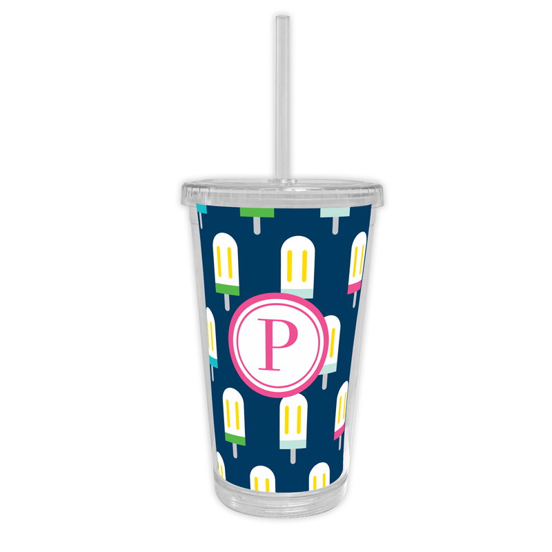 Let's Pop Personalized Cold Tumbler with Straw