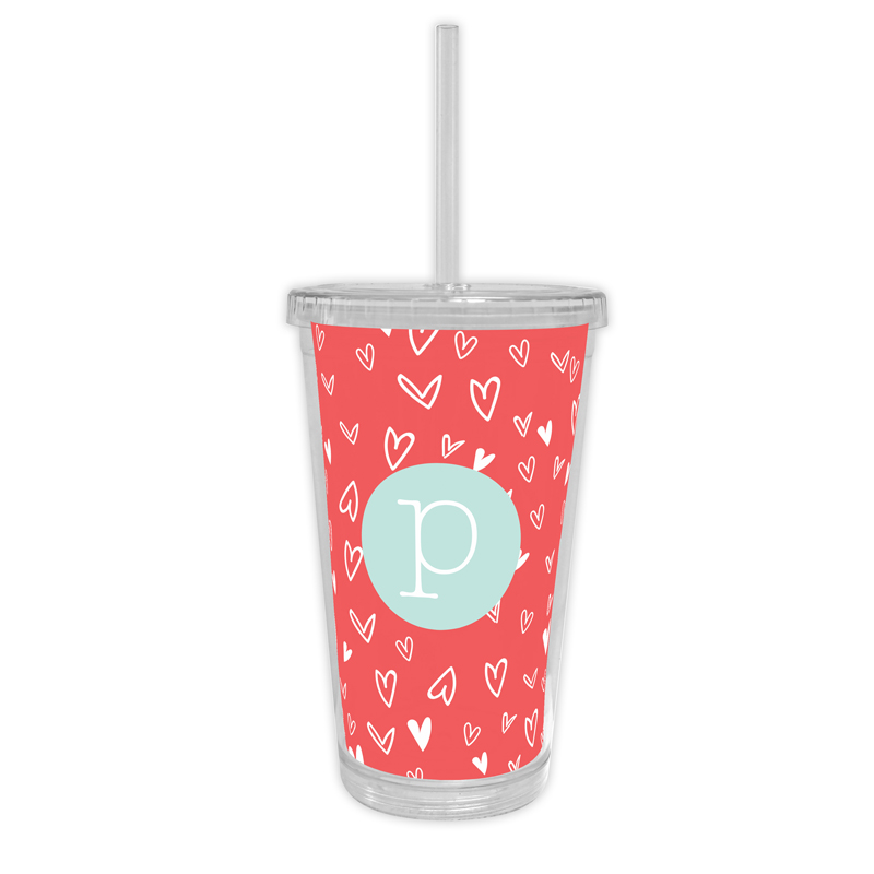 Love It Personalized Cold Tumbler with Straw
