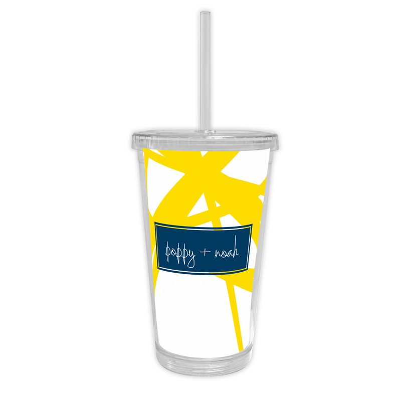 Pick Up Stix Personalized Cold Tumbler with Straw