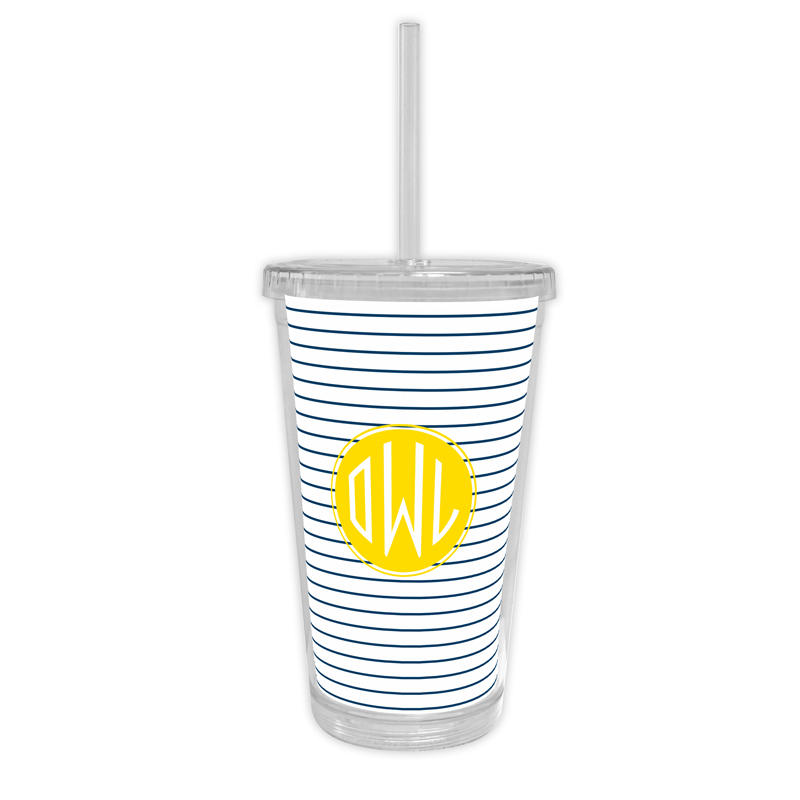 Pinny Personalized Cold Tumbler with Straw
