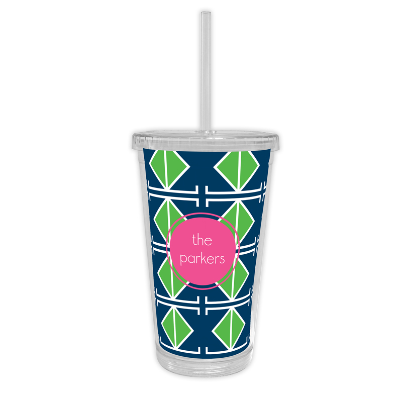 Table Tennis Personalized Cold Tumbler with Straw