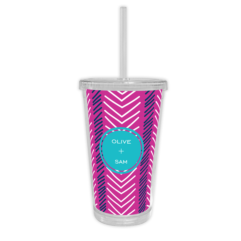 Topstitch Personalized Cold Tumbler with Straw