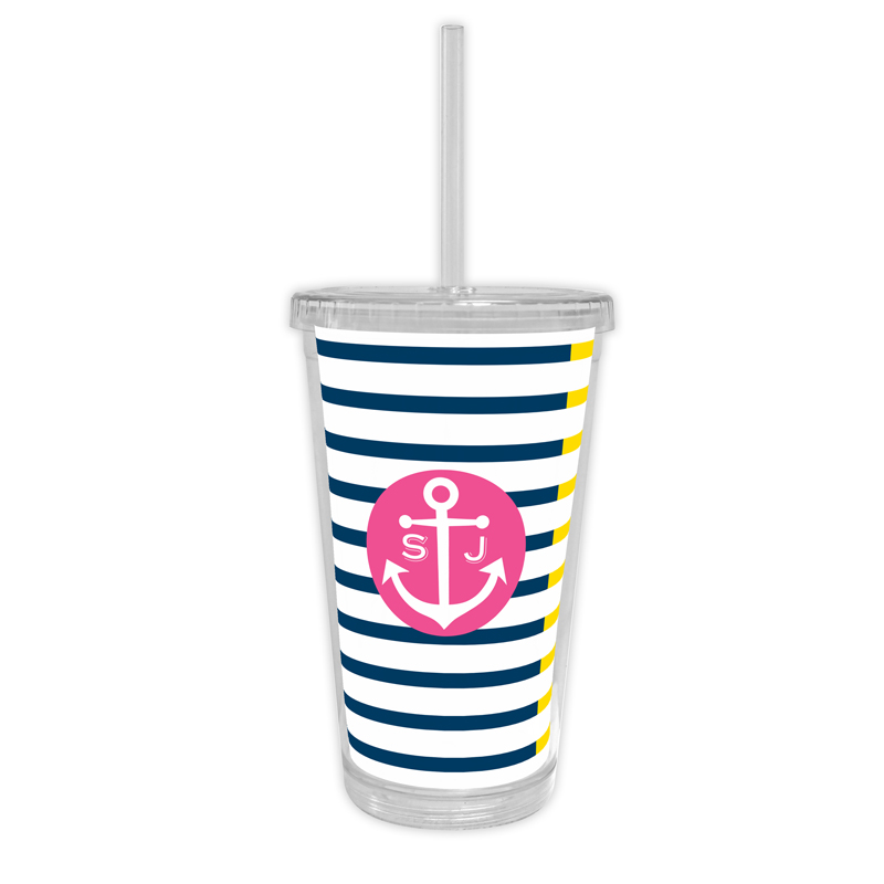 Twice As Nice Personalized Cold Tumbler with Straw