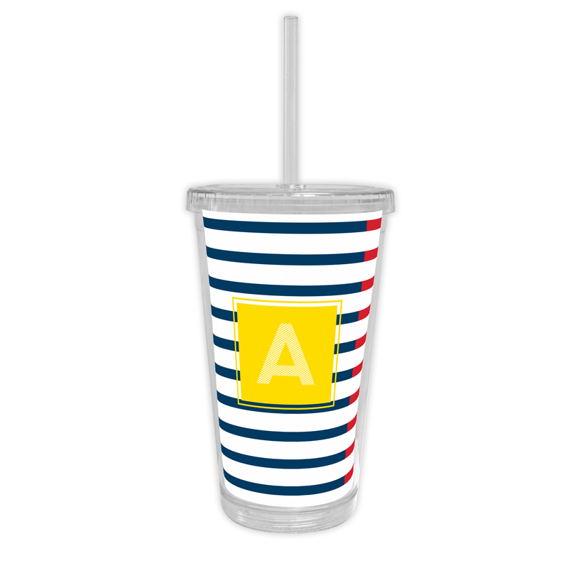 Twice As Nice 2 Personalized Cold Tumbler with Straw