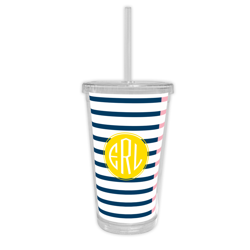 Twice As Nice 3 Personalized Cold Tumbler with Straw